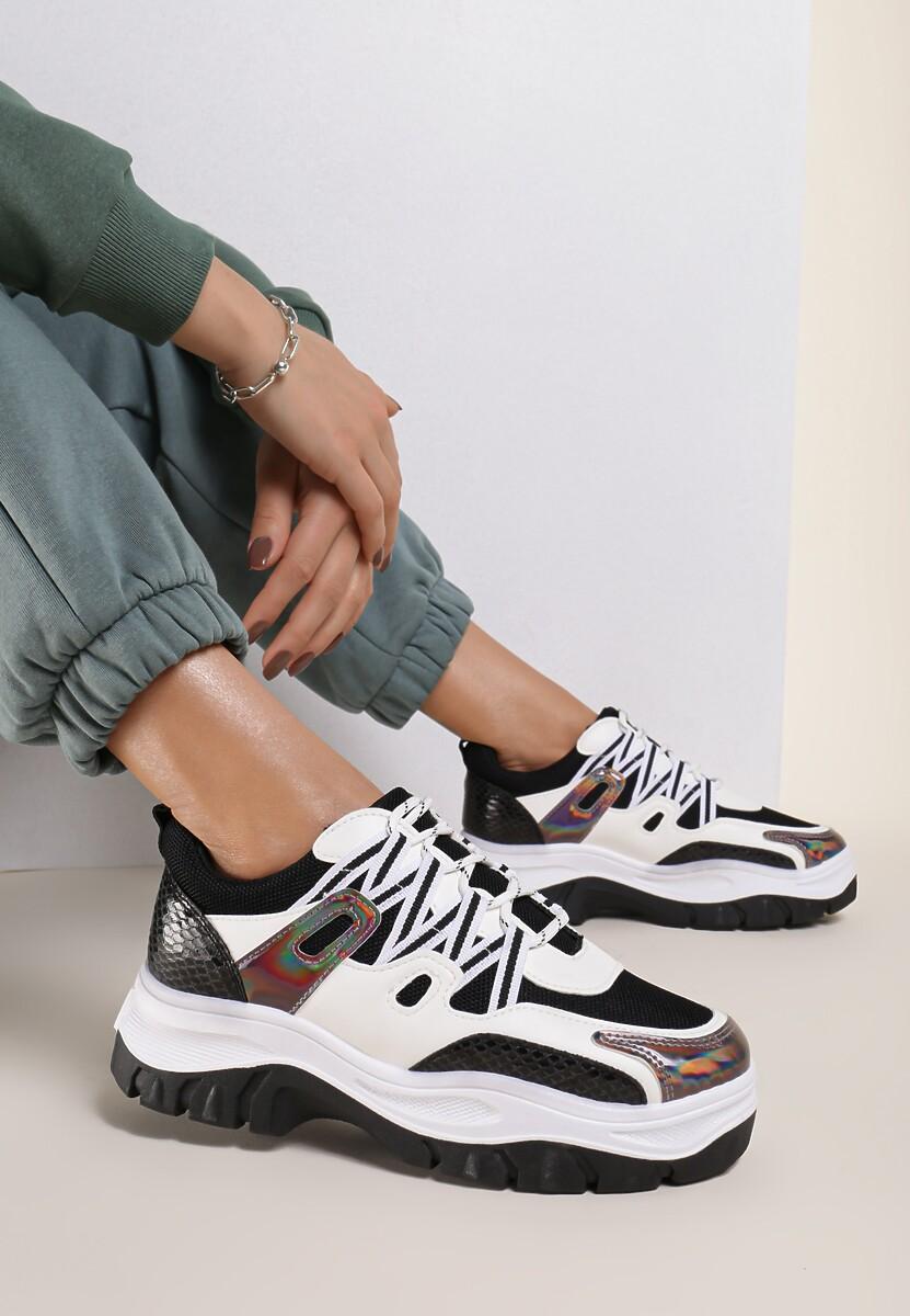 Czarno-Białe Sneakersy Bubblebirdok
