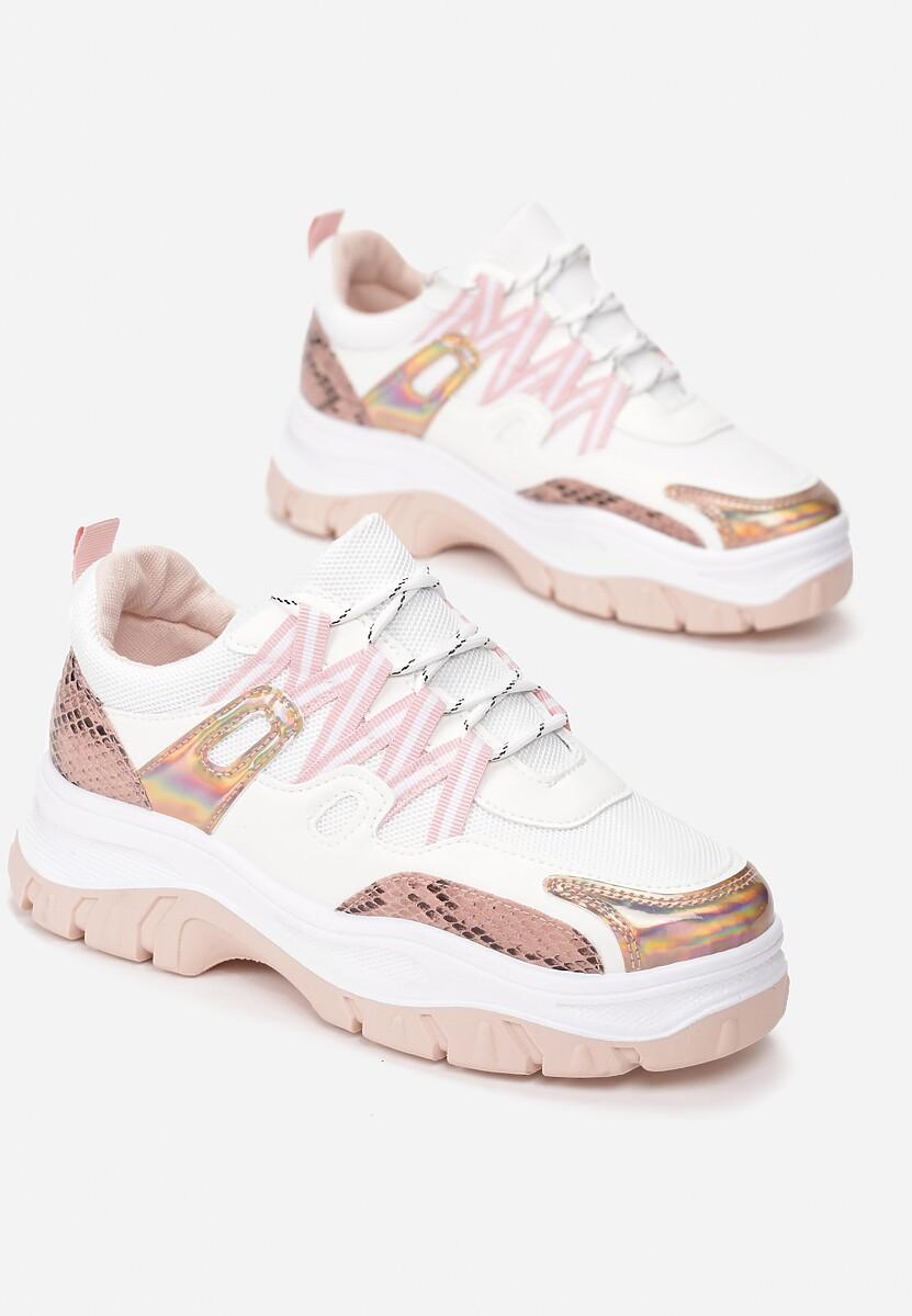 Biało-Różowe Sneakersy Bubblebirdok