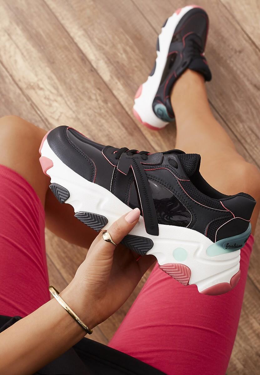 Czarne Sneakersy Lagurien
