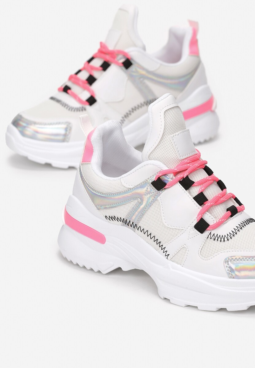 Biało-Fuksjowe Sneakersy Noonhold