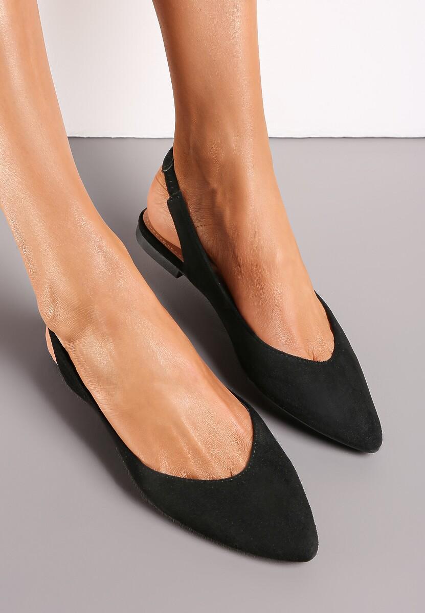 minimalistyczne czarne sandały szpilki bolg