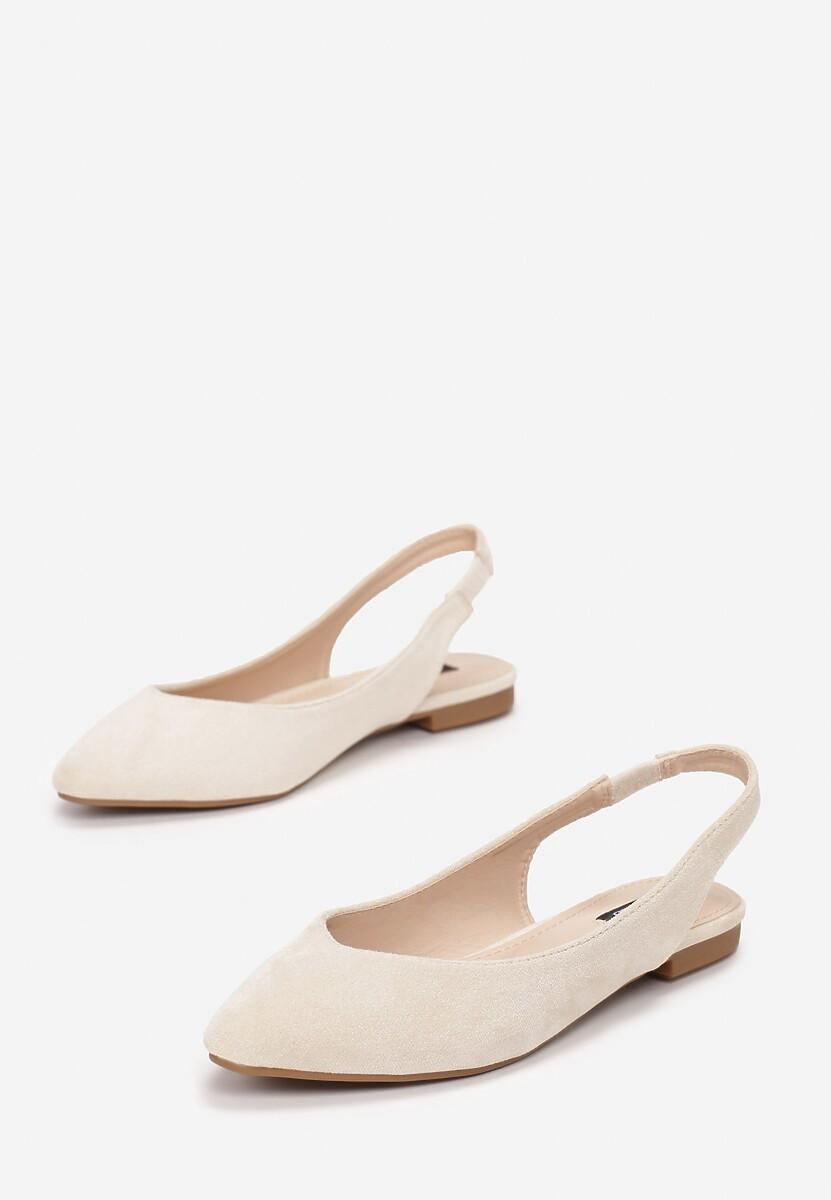 Beżowe Sandały Nemegoria