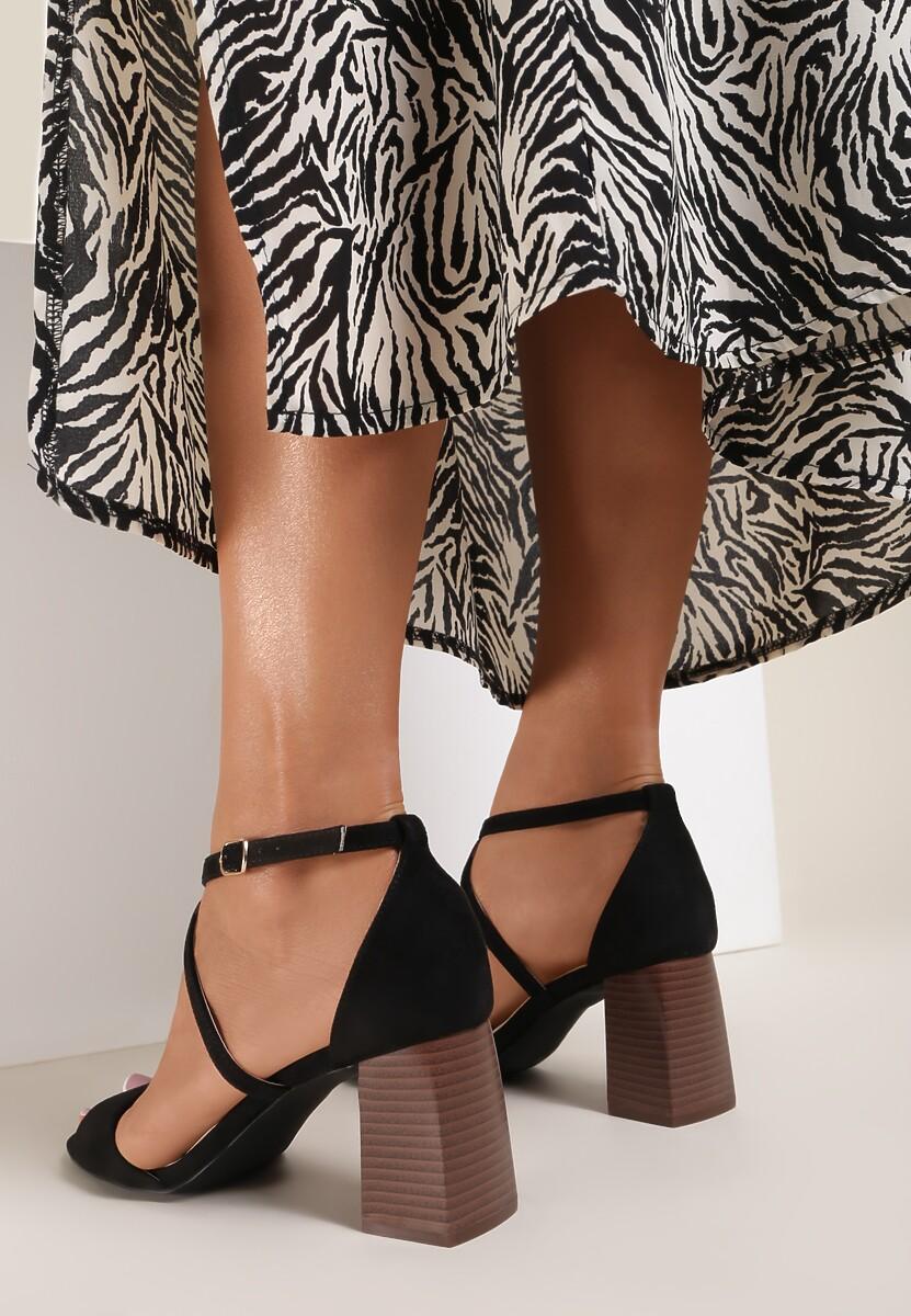 Czarne Sandały Rhenilla