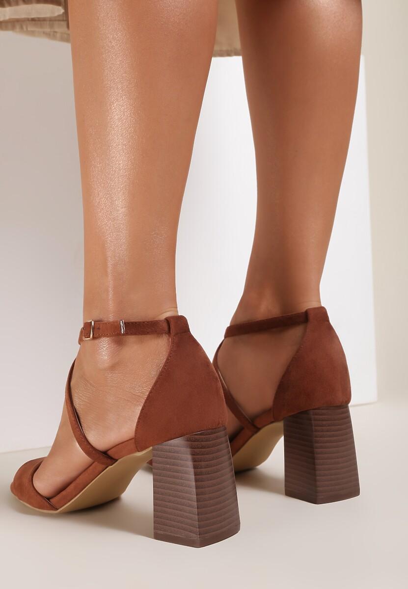Brązowe Sandały Rhenilla
