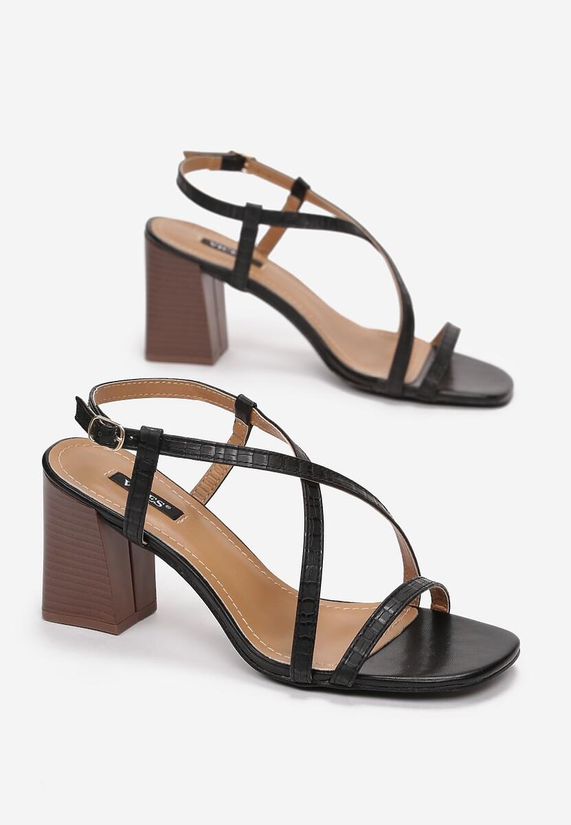 Czarne Sandały Dorysea