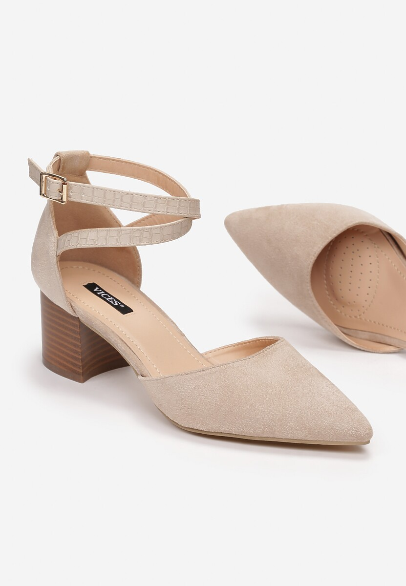 Jasnobeżowe Sandały Delmadine