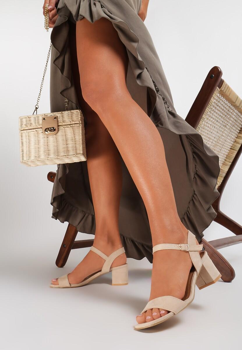 Jasnobeżowe Sandały Yavianna