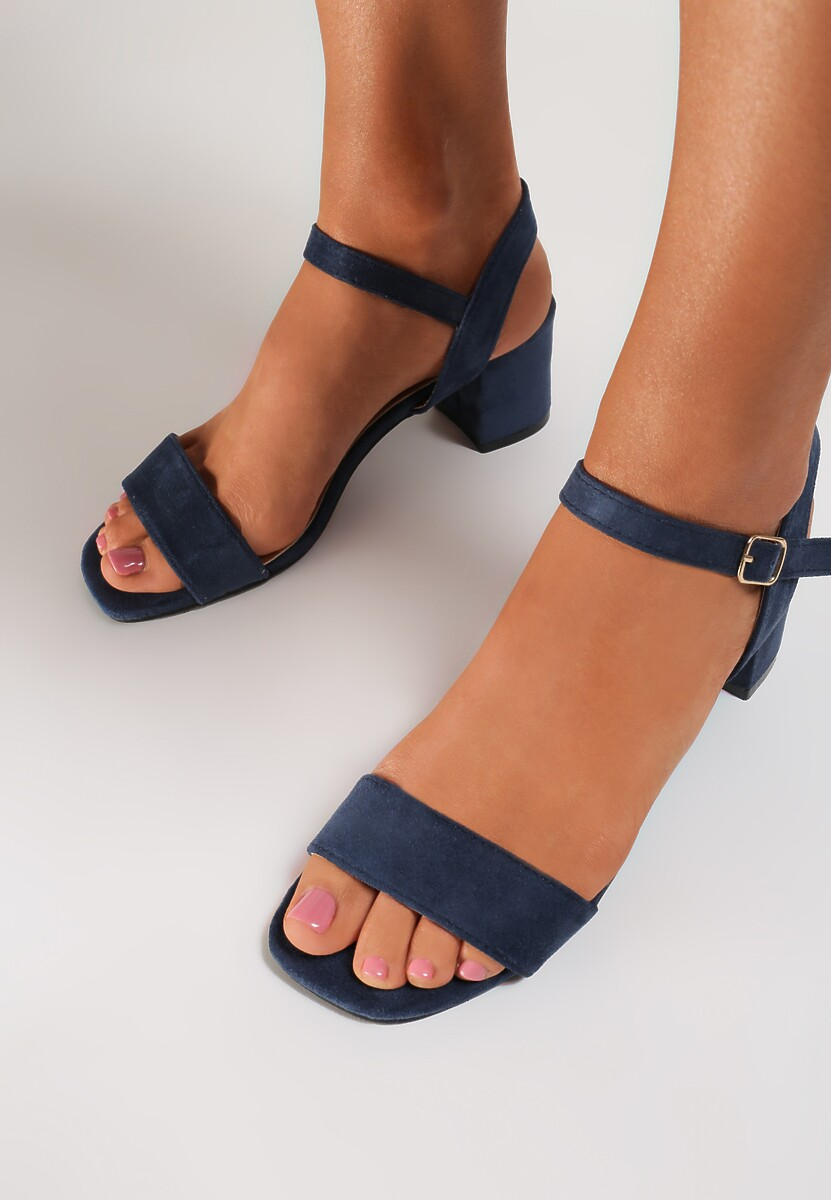 Granatowe Sandały Yavianna