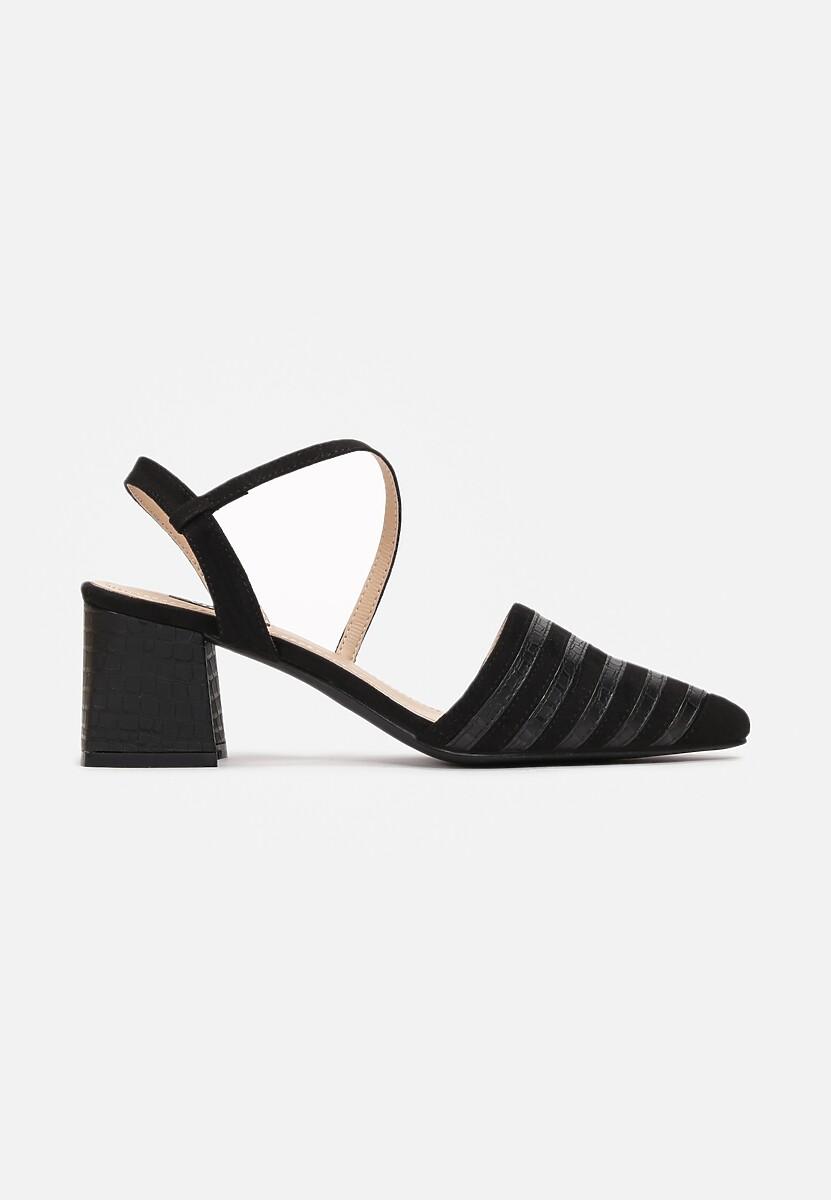 Czarne Sandały Kelalis