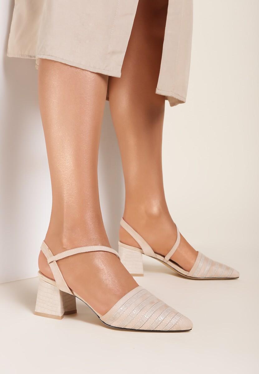 Beżowe Sandały Kelalis