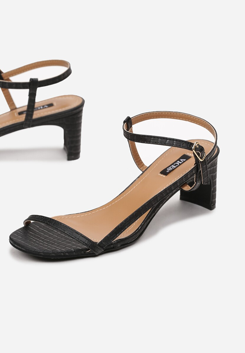 Czarne Sandały Merevien