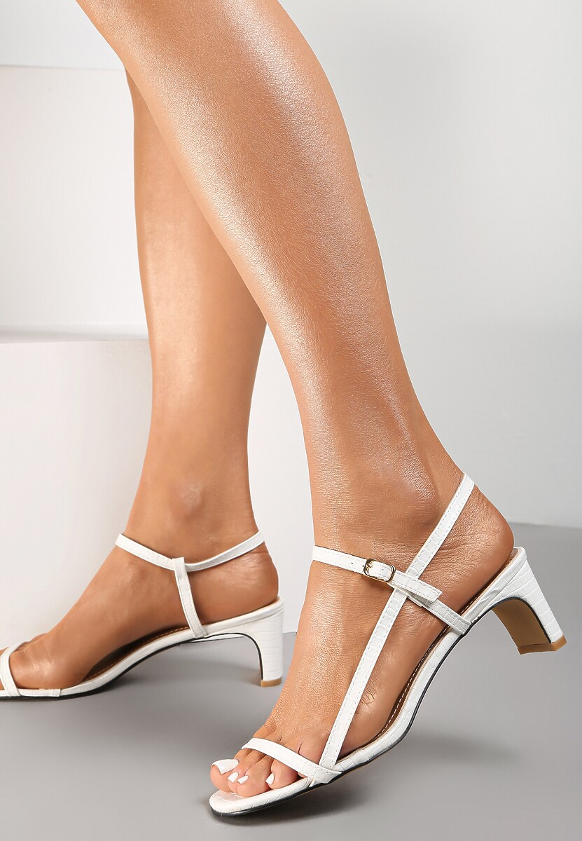 Białe Sandały Merevien