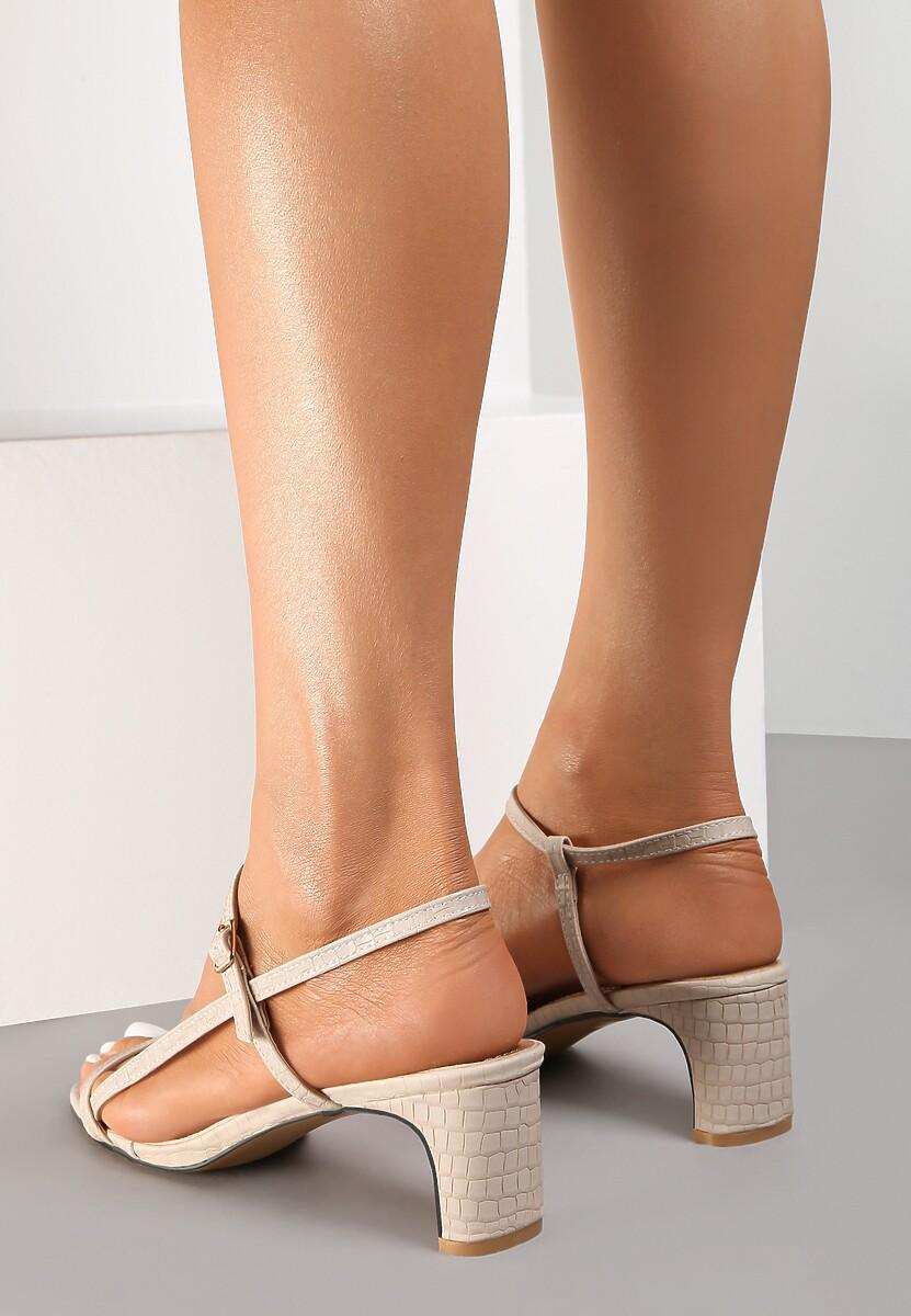 Beżowe Sandały Merevien