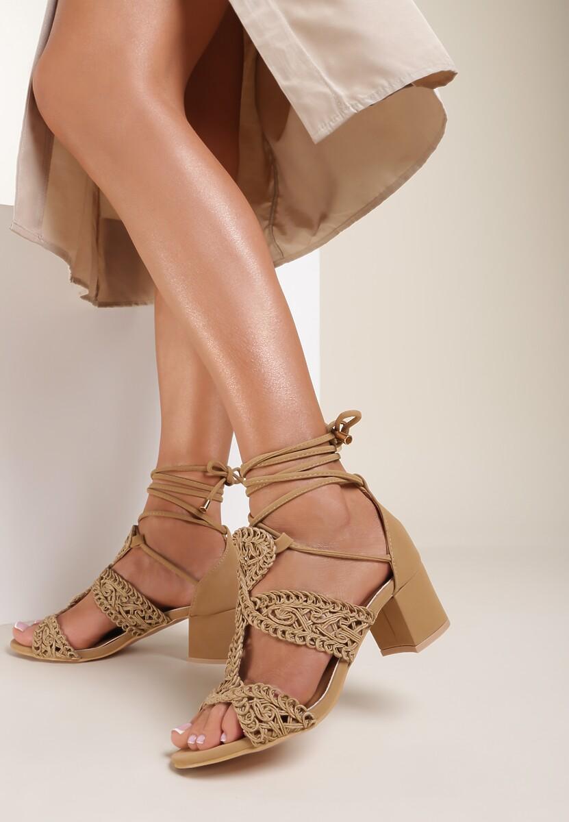Beżowe Sandały Avalila