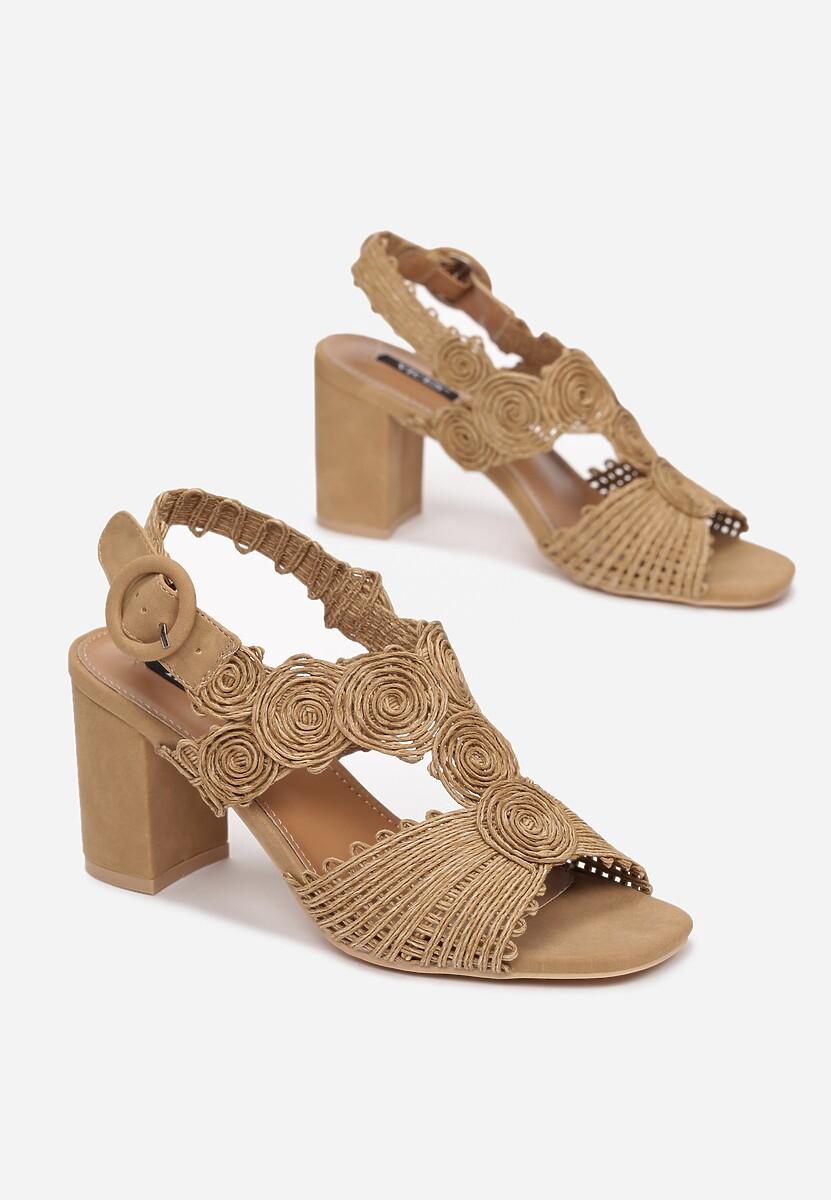 Beżowe Sandały Coreagana