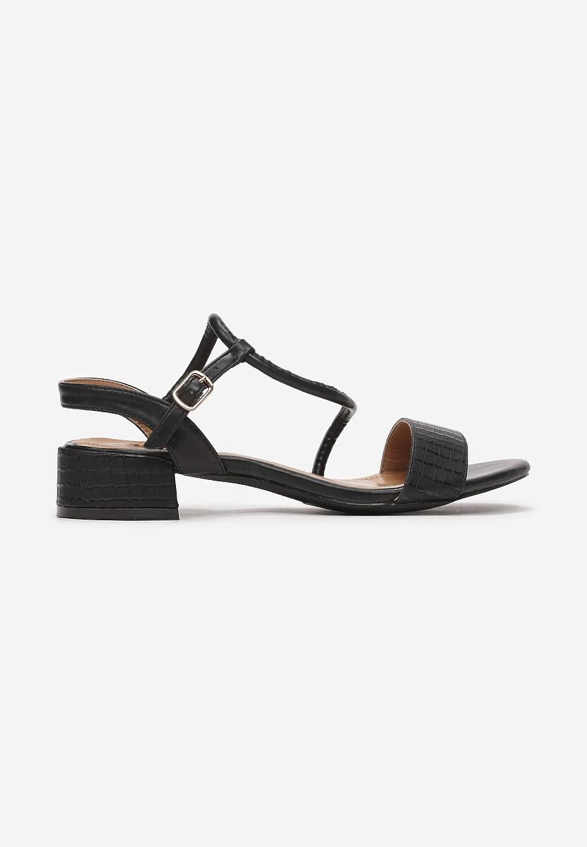 Czarne Sandały Coradeia