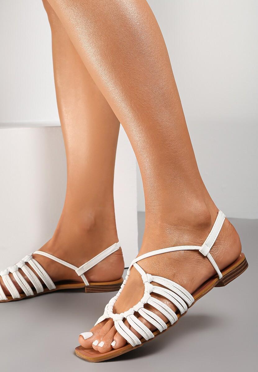 Białe Sandały Euphenele