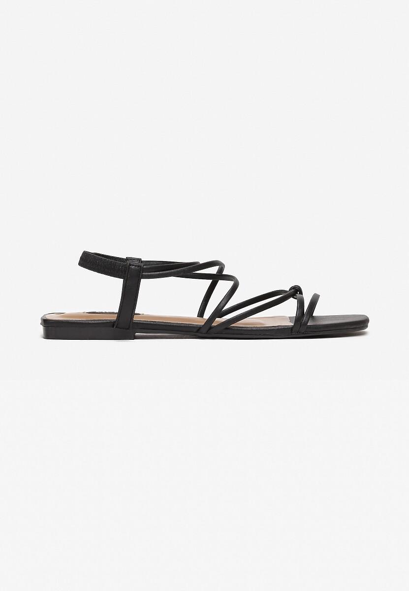 Czarne Sandały Alluris