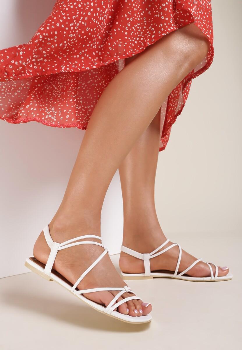 Białe Sandały Alluris