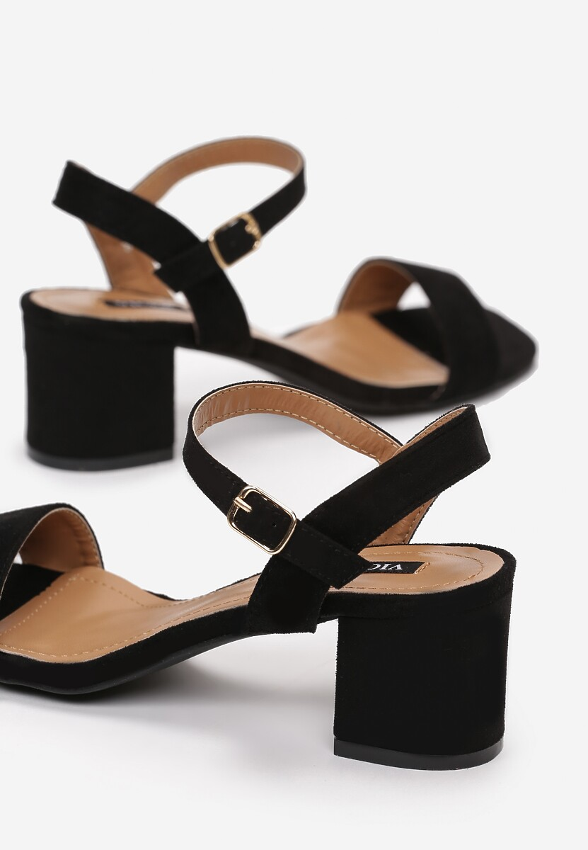 Czarne Sandały Yavianna