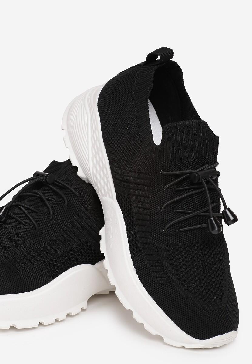 Czarne Sneakersy Aglaolinai