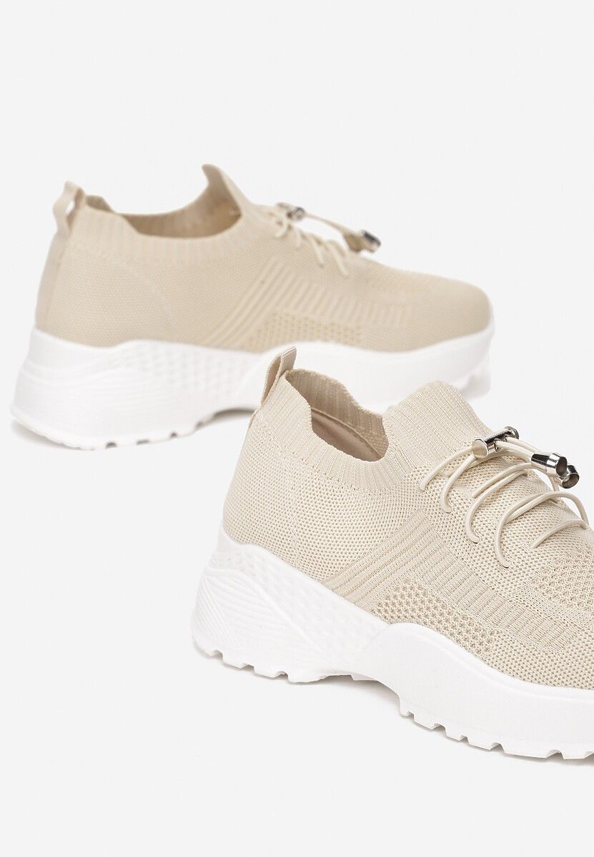 Beżowe Sneakersy Aglaolinai