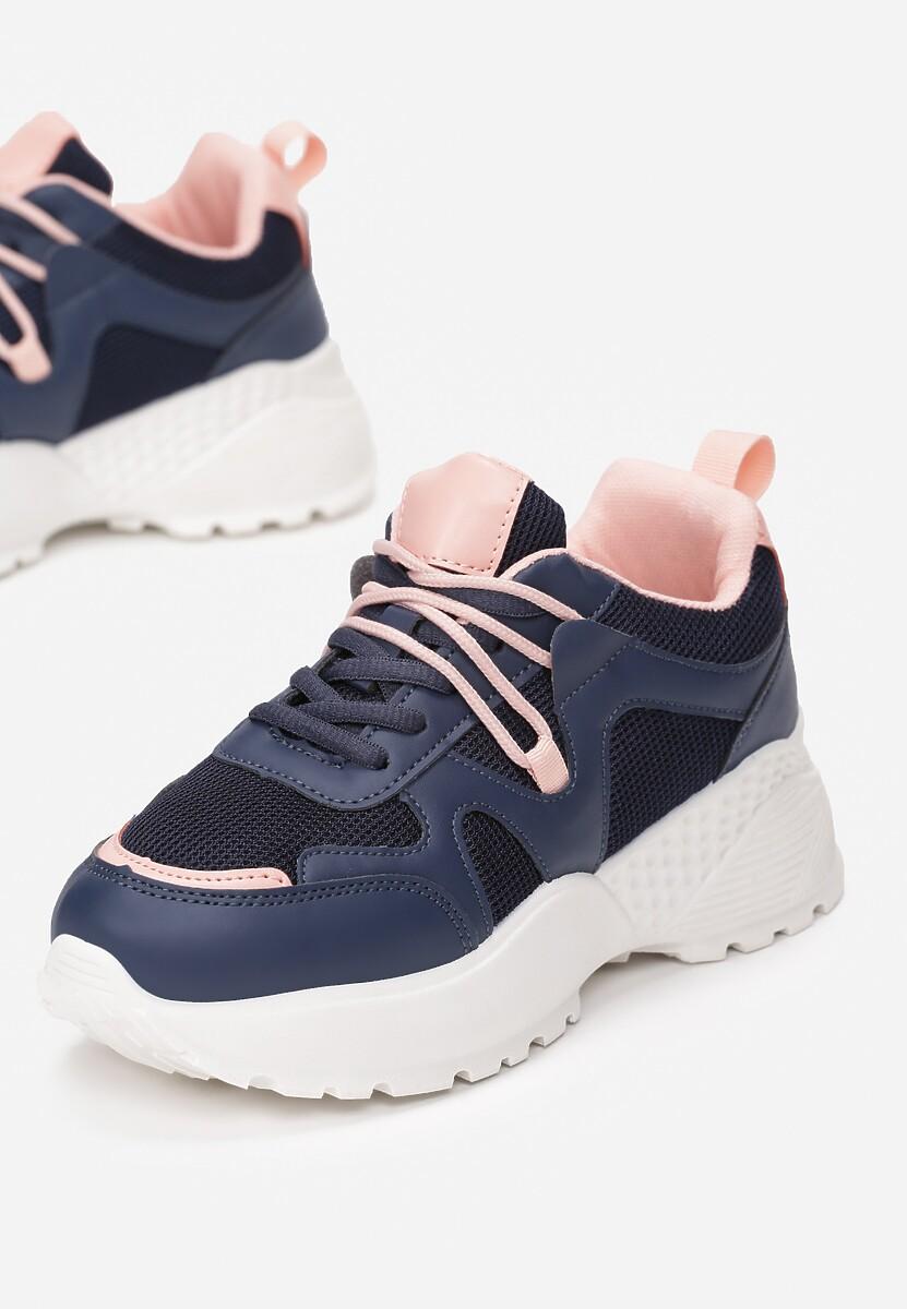 Granatowe Sneakersy Euthiaphe