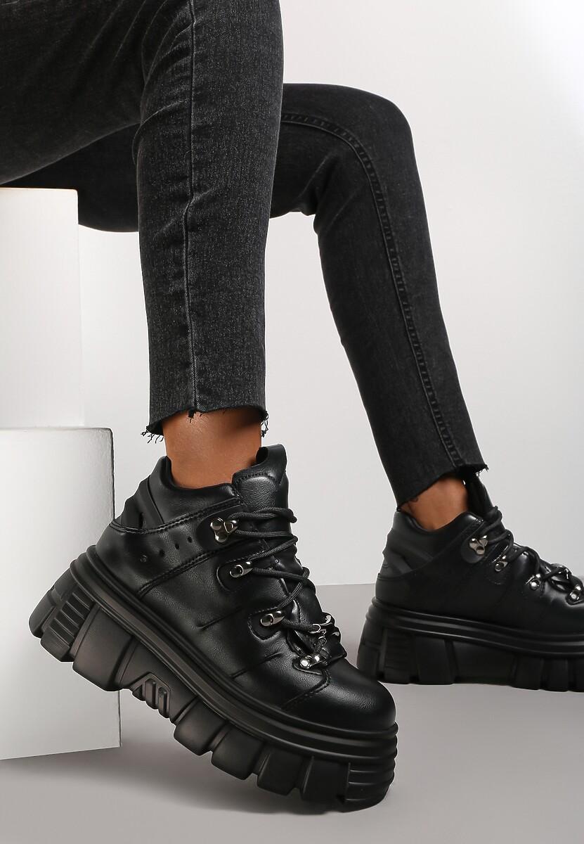 Czarne Sneakersy Nalora