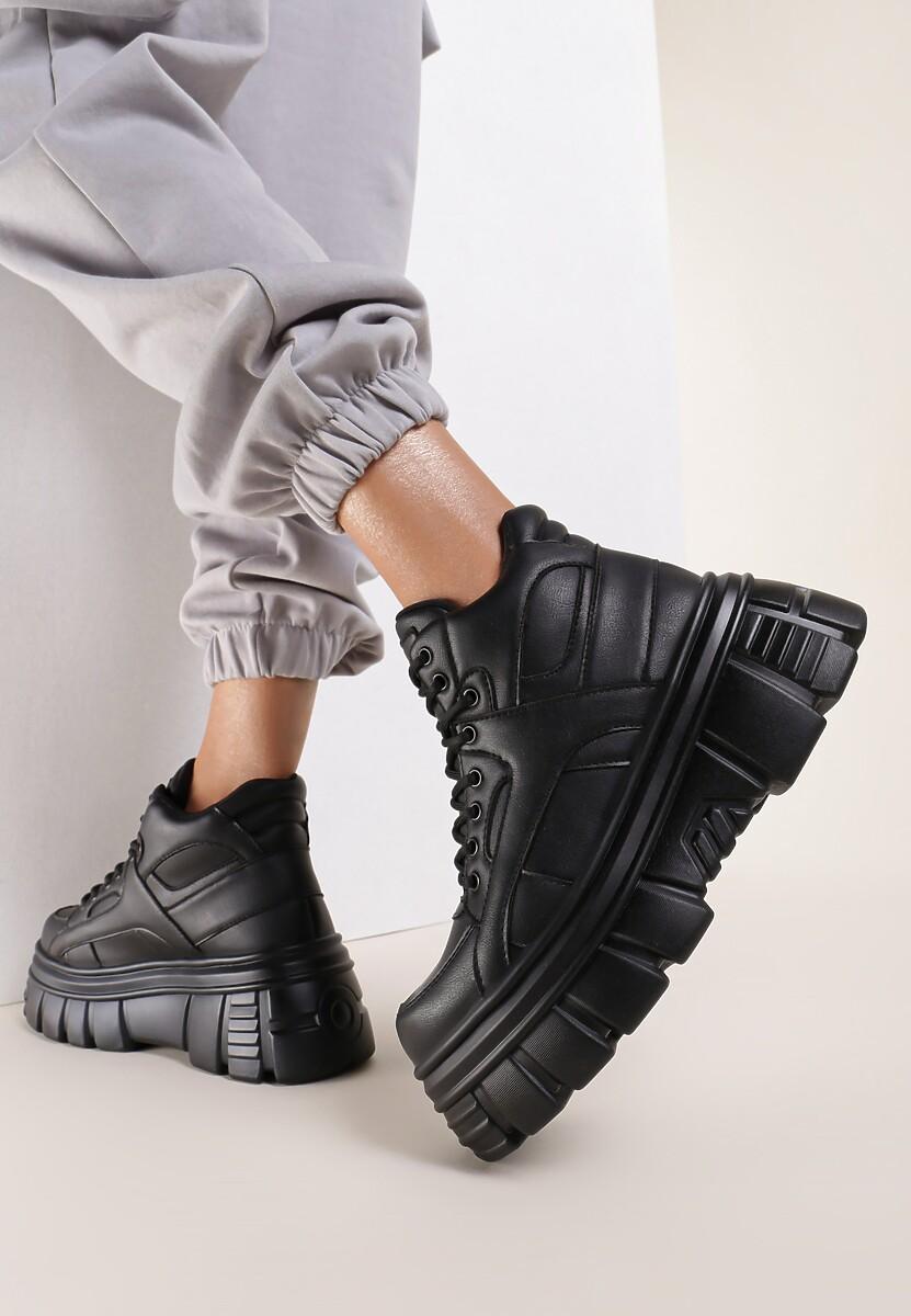Czarne Sneakersy Sylipe
