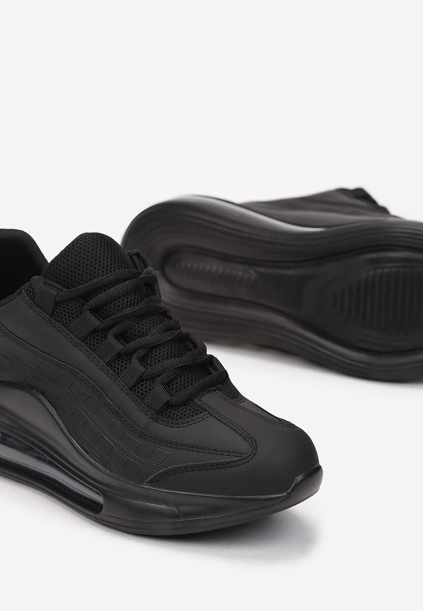 Czarne Matowe Sneakersy Gineros