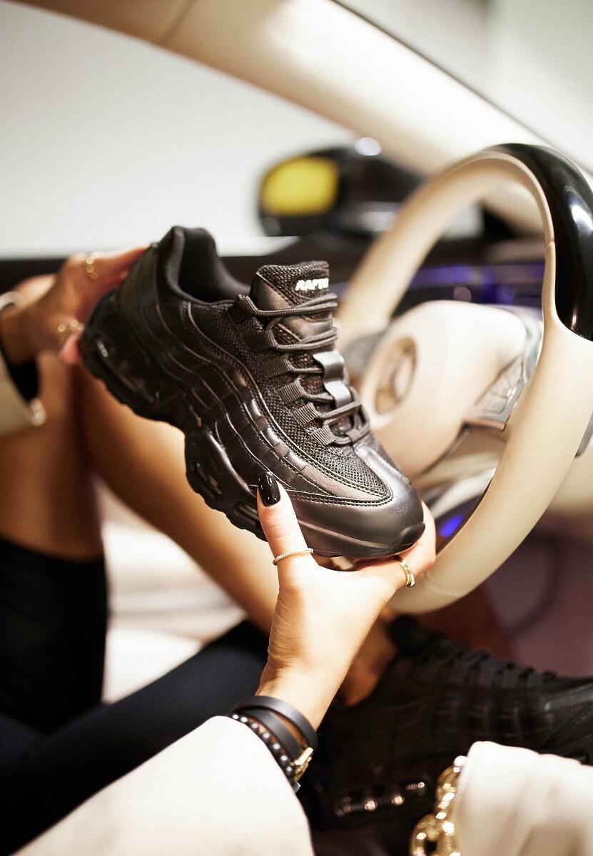 Czarne Sneakersy Avagune