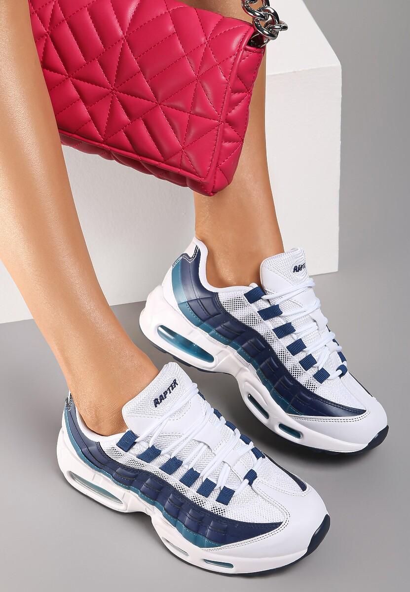 Biało-Granatowe Sneakersy Avagune