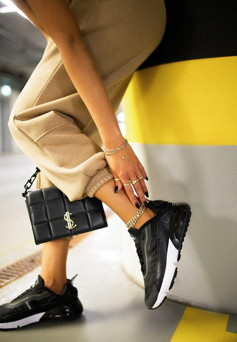 Czarne Buty Sportowe Azama