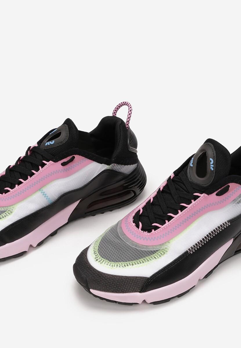 Różowo-Czarne Buty Sportowe Azama