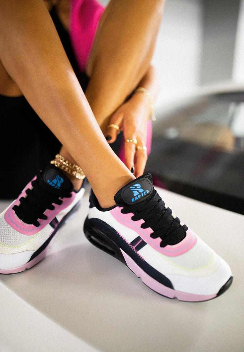 Biało-Różowe Buty Sportowe Qinerris