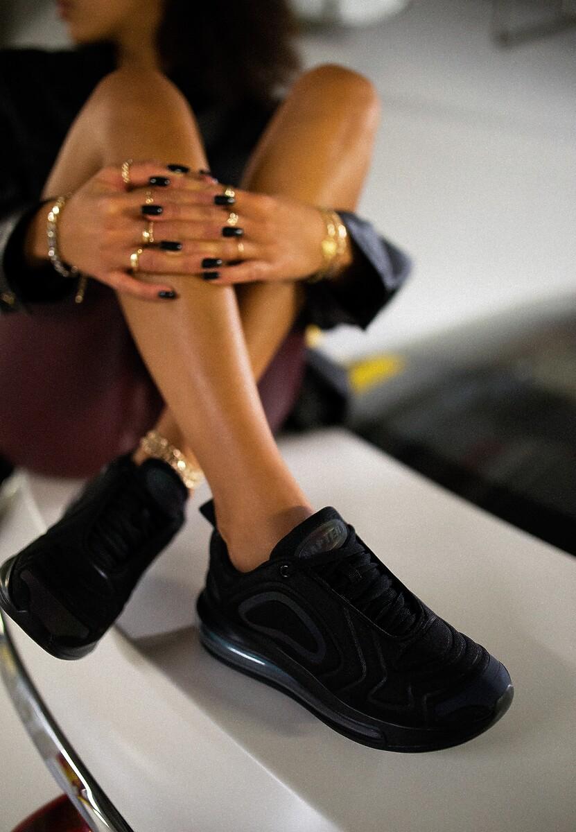 Czarno-Niebieskie Sneakersy Prosassea