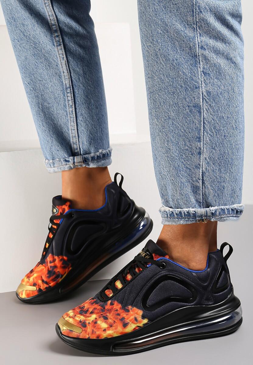 Czarno-Czerwone Sneakersy Prosassea