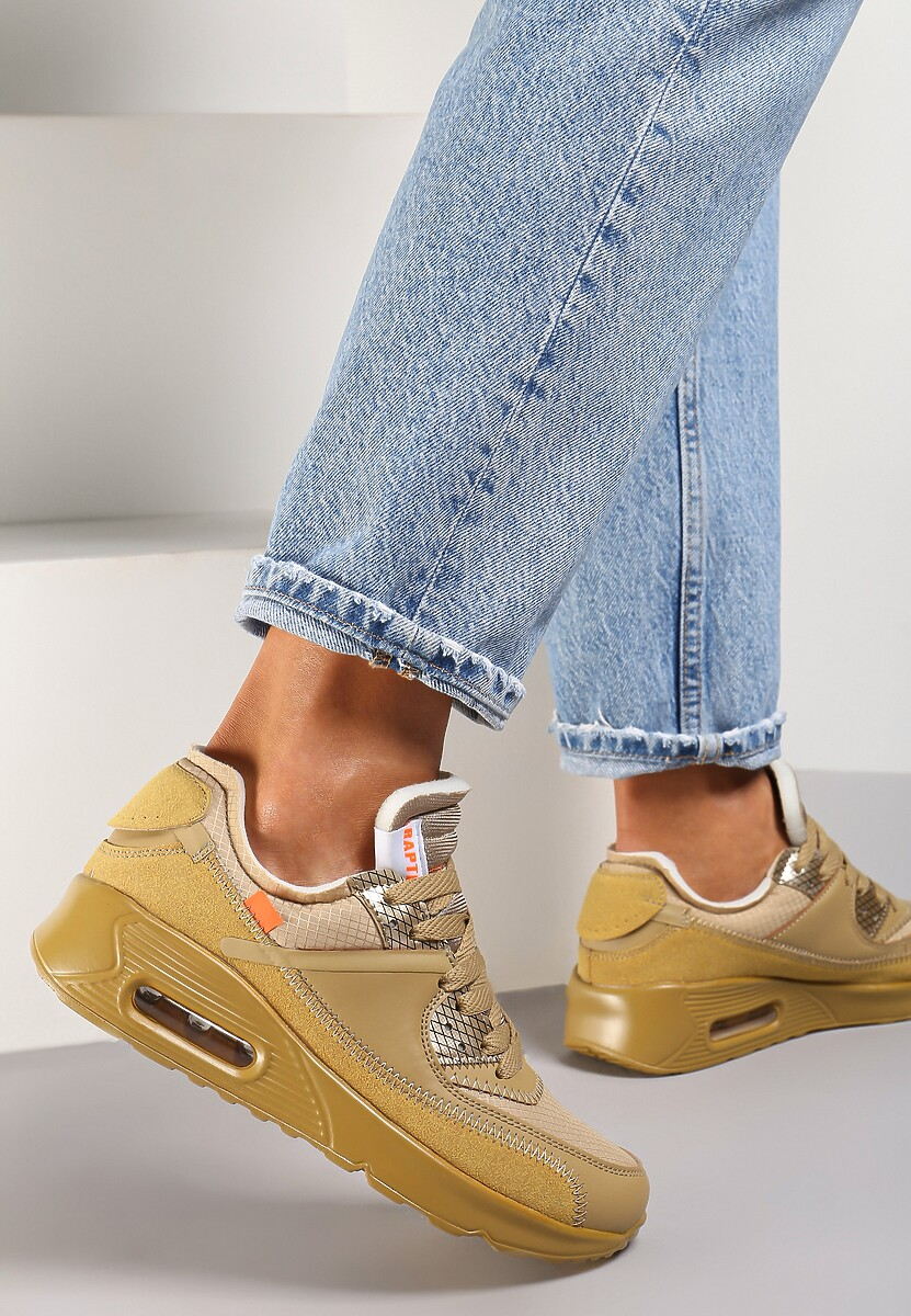 Beżowe Buty Sportowe Irinyxih
