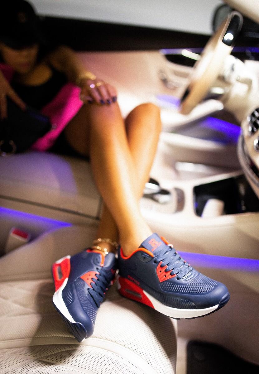 Granatowe Buty Sportowe Praxanthe