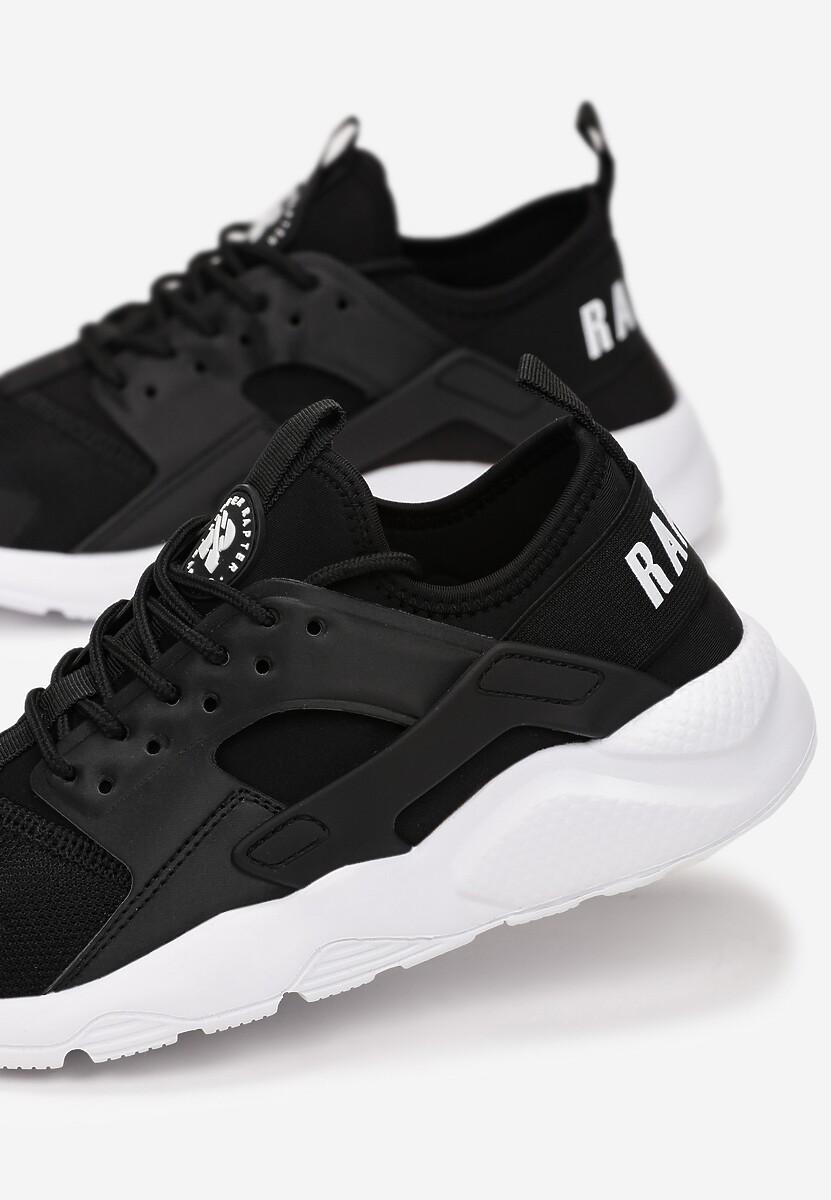 Czarno-Białe Buty Sportowe Rhelvynia