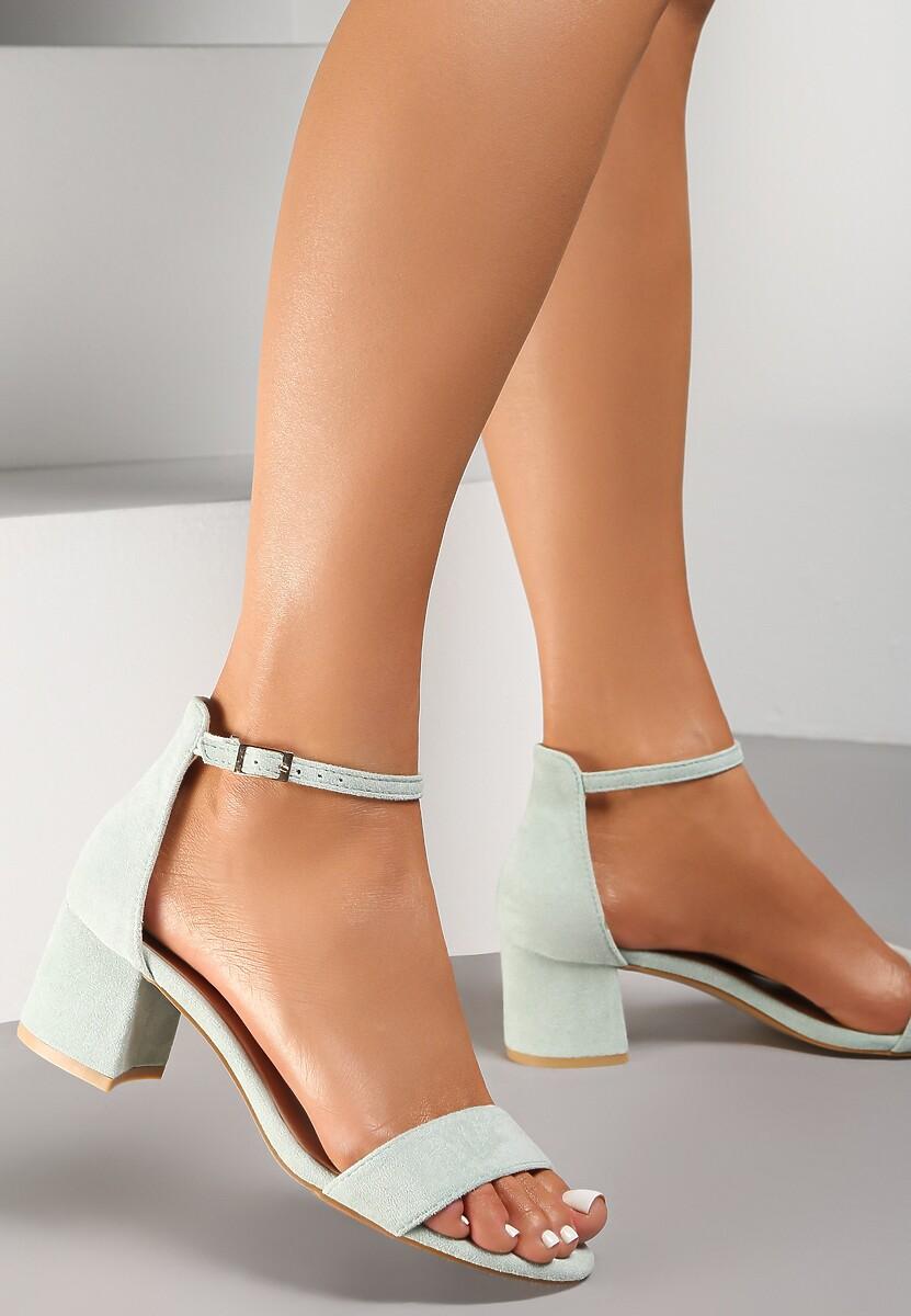 Miętowe Sandały Arievia