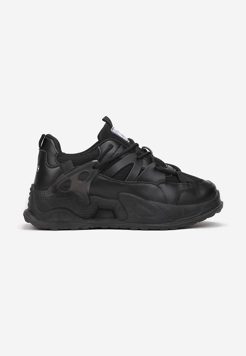 Czarne Sneakersy Atel