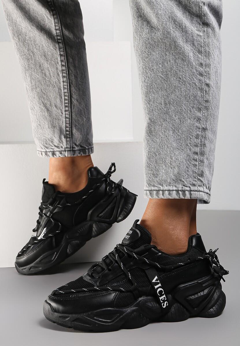 Czarne Sneakersy Astemisia