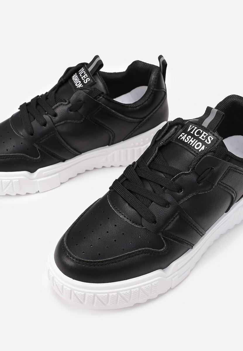 Czarne Sneakersy Phaeladia