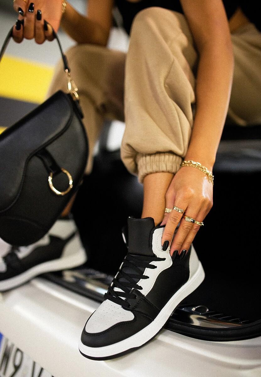 Czarno-Szare Sneakersy Asithera