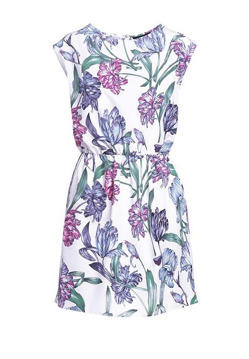 Bialo Niebieska Sukienka Springtime
