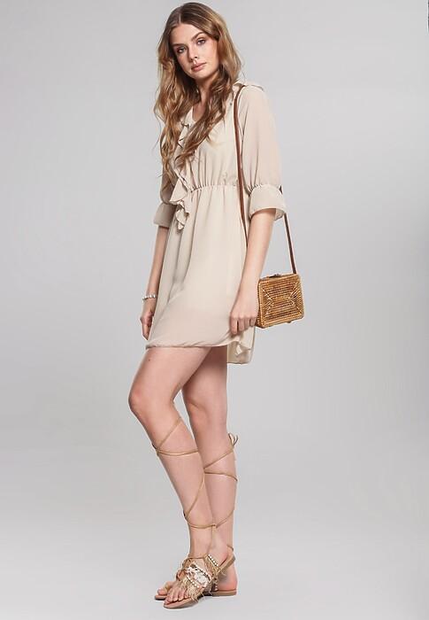 Beżowa Sukienka Hardback