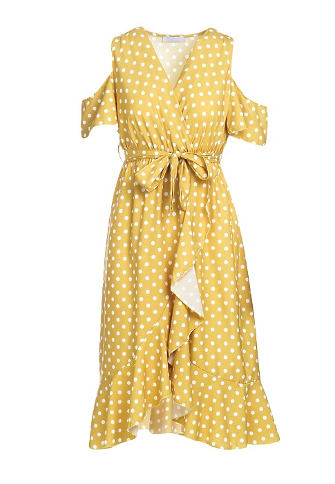 Musztardowa Sukienka Breezes