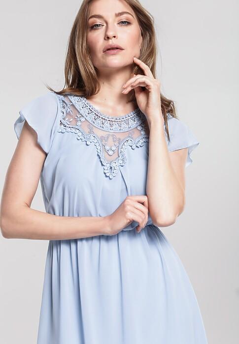 Niebieska Sukienka Mart