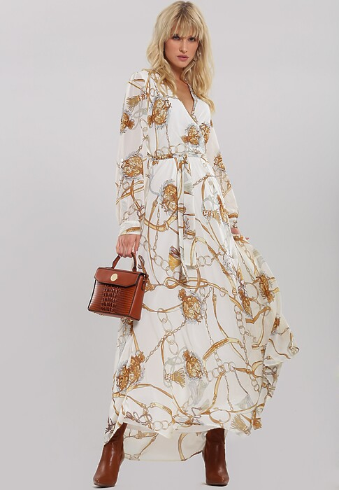 Biała Sukienka Evince